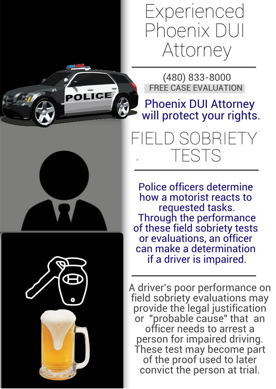 Infographic Phoenix Field Sobriety Test Attorney